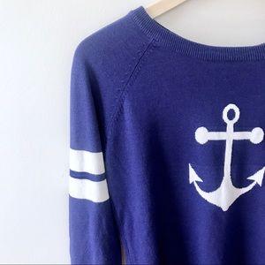 Rue 21 Purple Anchor Sweater